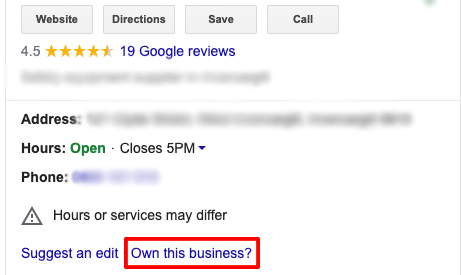 GMB Verification - Own this business